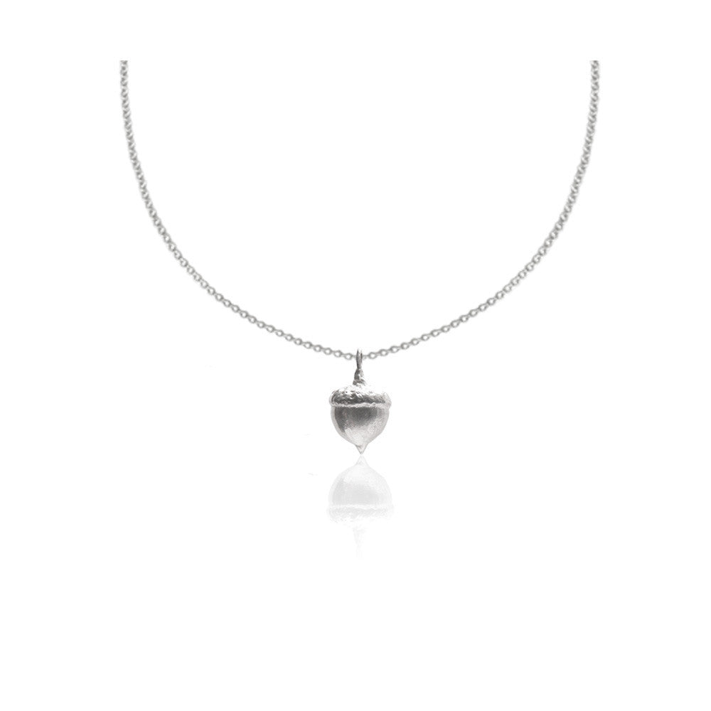 Silver Acorn I Necklace