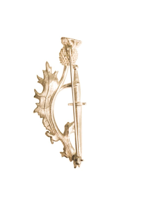 Limited Edition: Brass Thistle & Dagger Pin
