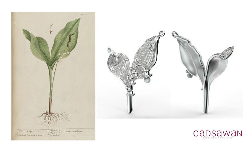 Lily of the Valley Charm
