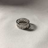 Celtic Sterling Silver Thistle Woven Ring