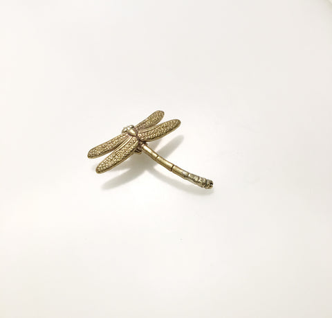 SALE - Brass Dragonfly Brooch