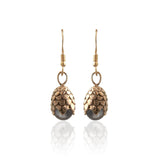 Brass Dragon Egg Earrings