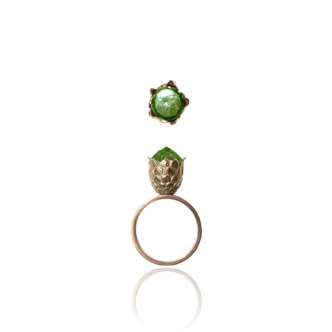 Peridot Dragon Egg Ring
