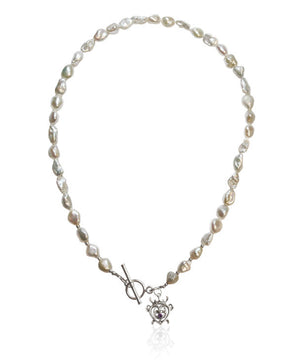 Thistle Luckenbooth Pearl Necklace