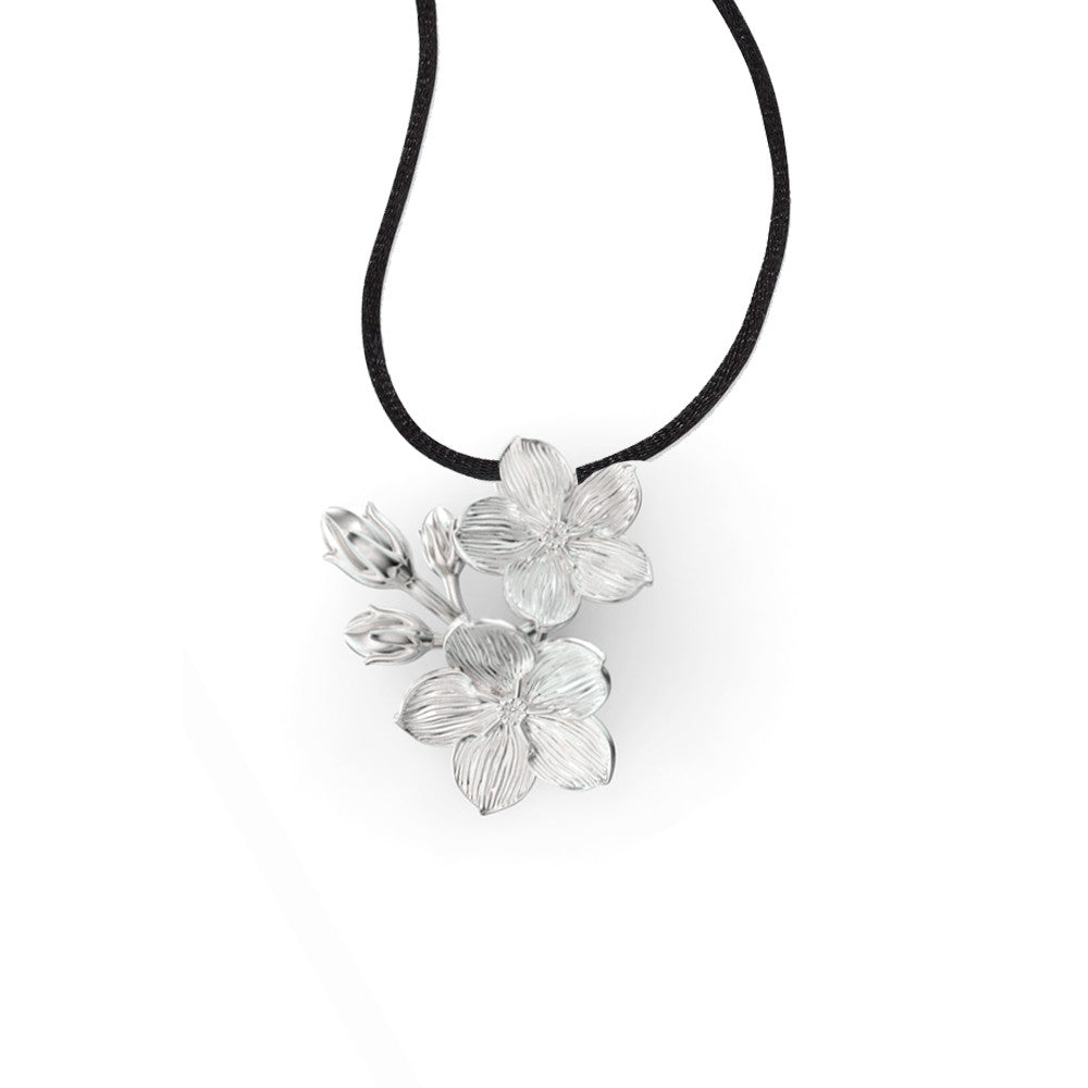 Forget-me-not Silver Pendant