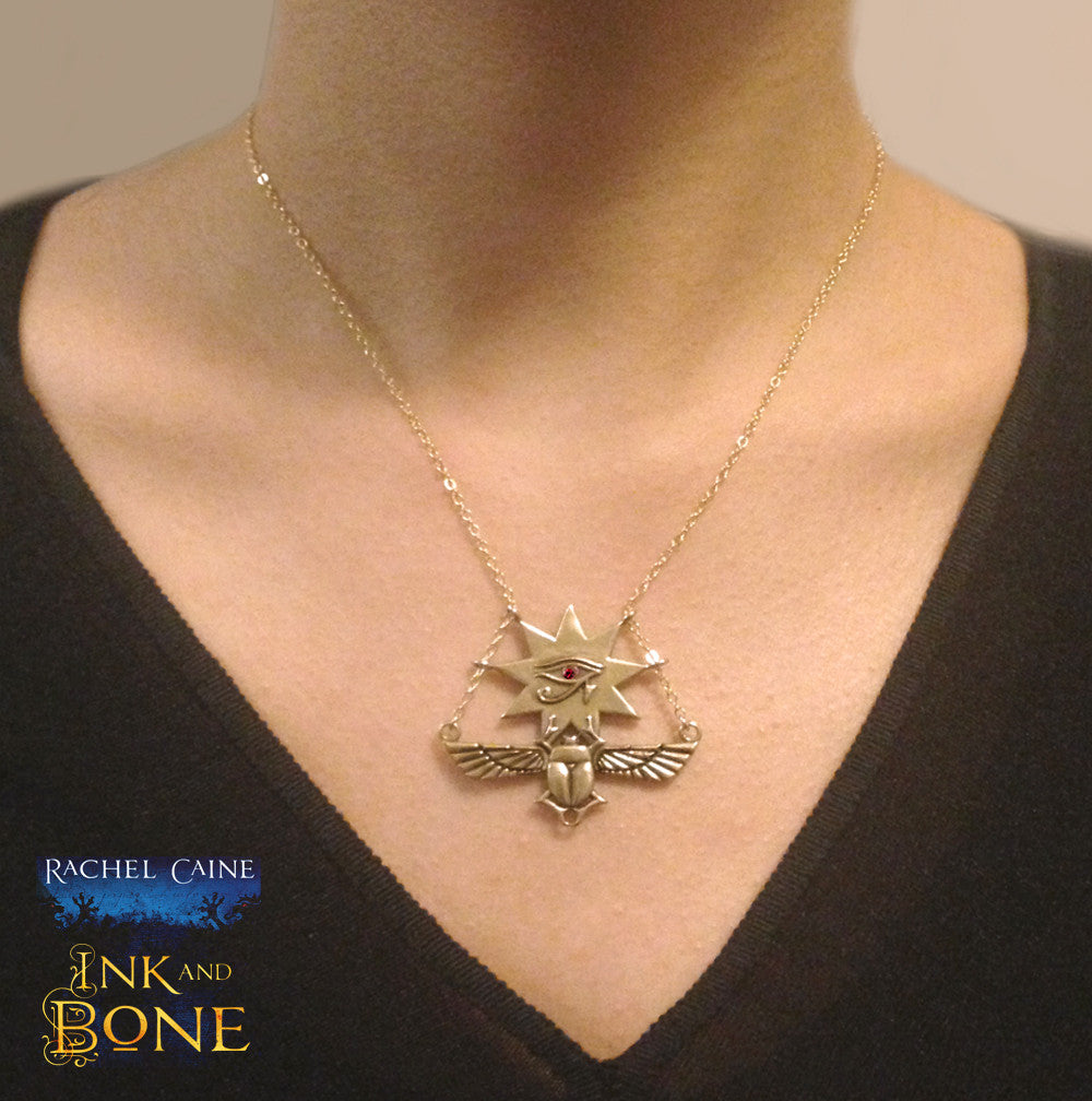 Ink and Bone Necklace