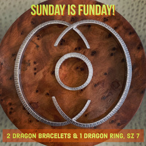 Sunday Funday Dragon Bracelets & Dragon Ring