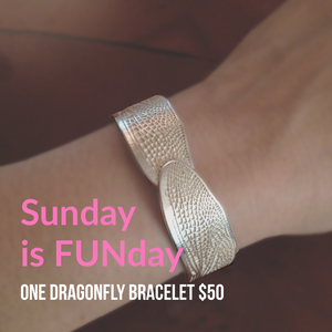 Sunday Funday Silver Dragonfly Cuff