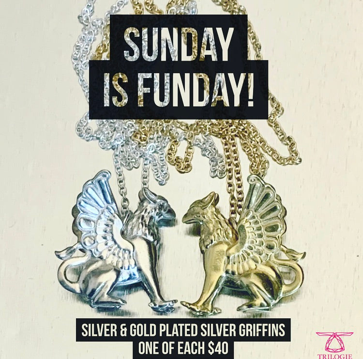 Sunday is FUNday Griffin Necklace