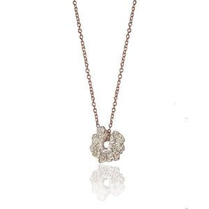 Platinum Rose Necklace