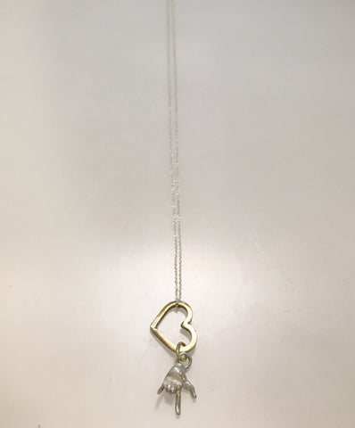 SALE - Heart & Hand Sign of LOVE Necklace