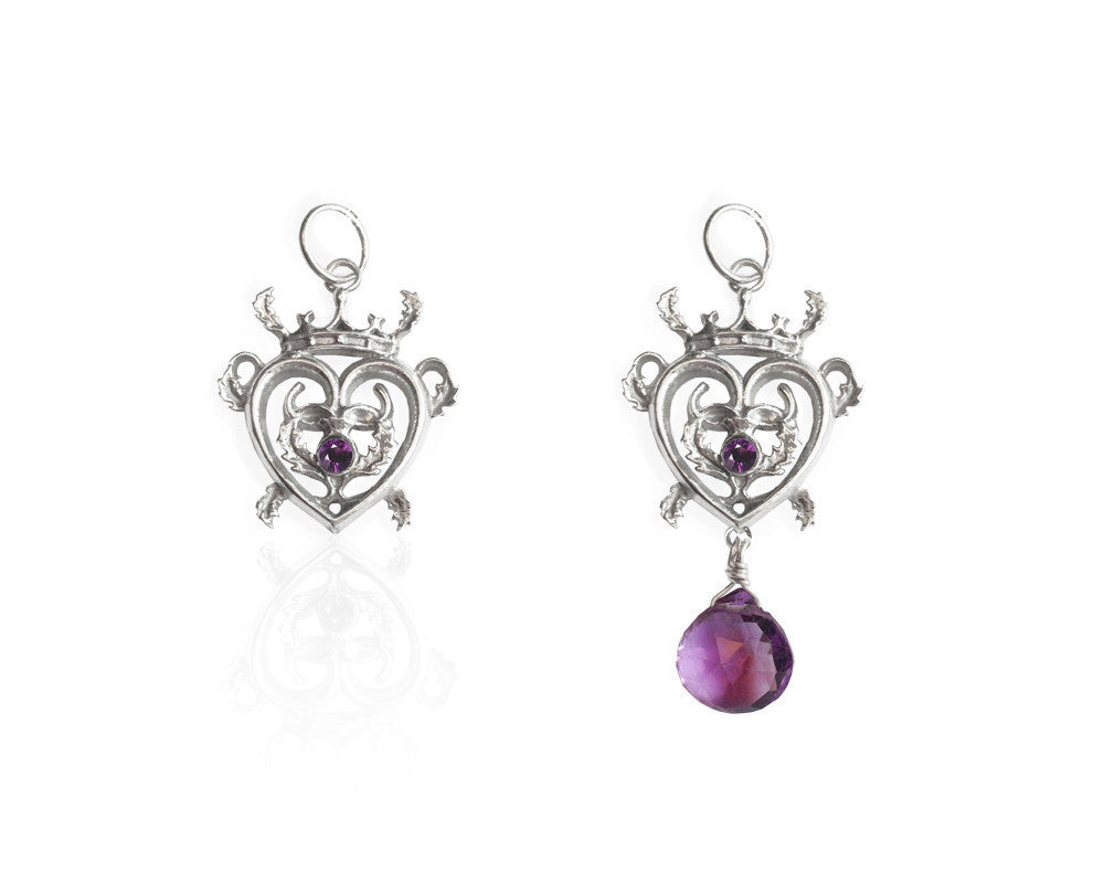 Thistle Luckenbooth Charm on Velvet