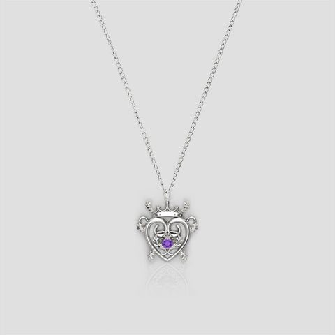 Thistle Luckenbooth Charm Necklace