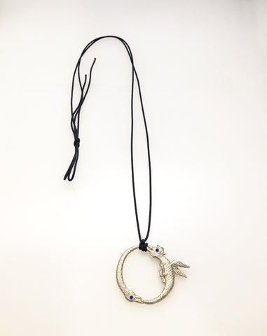 SALE - Tiny Double Ouroboros Necklace