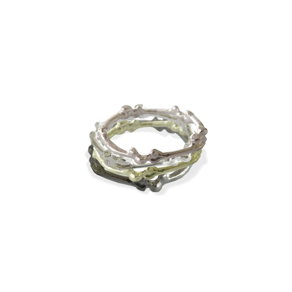 Rock & Bones Stackable Ring