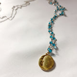 Moon Stars Sun Stone Necklace