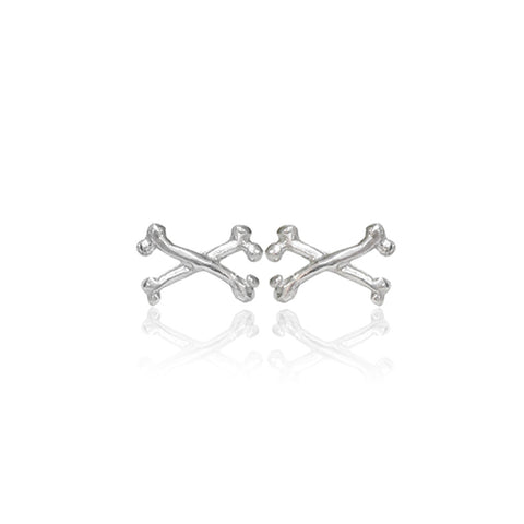 Tiny Crossbone Stud Earrings