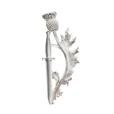 Silver Thistle & Dagger Pin