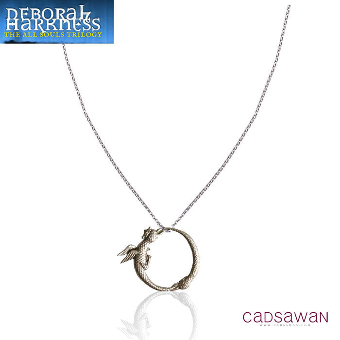 Tiny Double Ouroboros Necklace