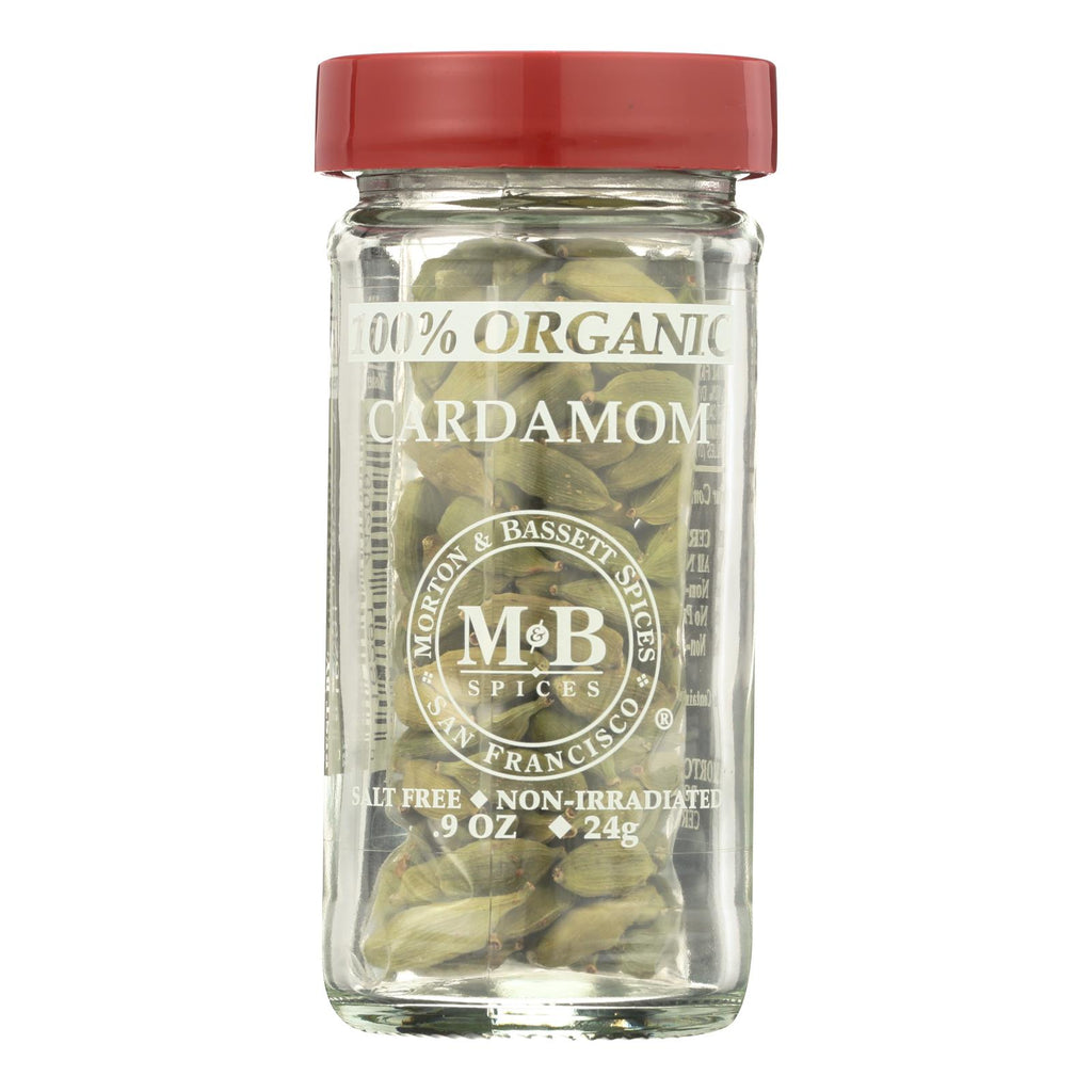Morton And Bassett 100% Organic Seasoning - Cardamom - .9 Oz - Case Of 3