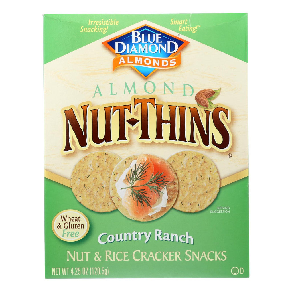 Blue Diamond Nut Thins - Country Ranch - Case Of 12 - 4.25 Oz.