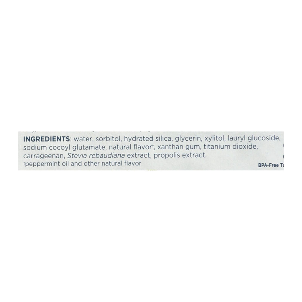 Tom's Of Maine Botanically Bright Whitening Toothpaste Peppermint - 4 7 Oz  - Case Of 6