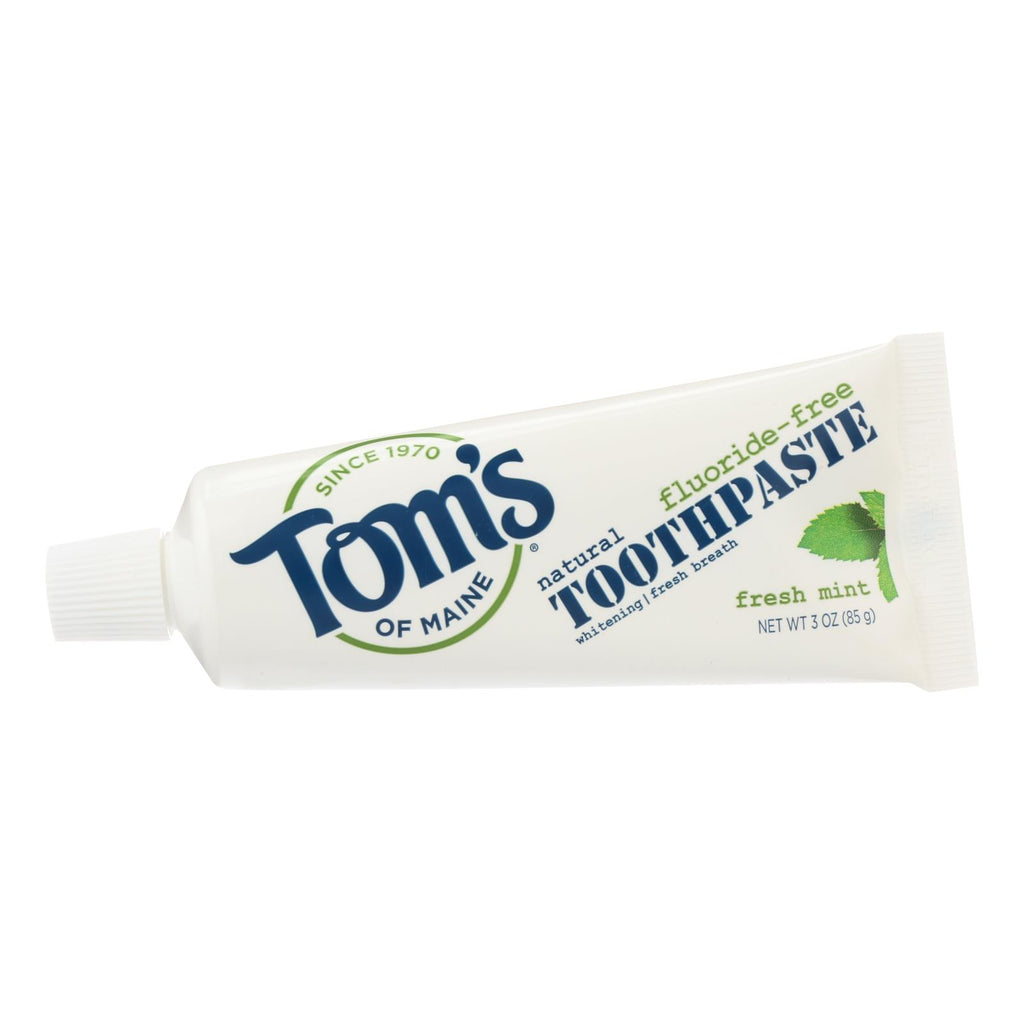 Tom's Of Maine Travel Natural Toothpaste - Fresh Mint, Fluoride-free - Case Of 24 - 3 Oz.