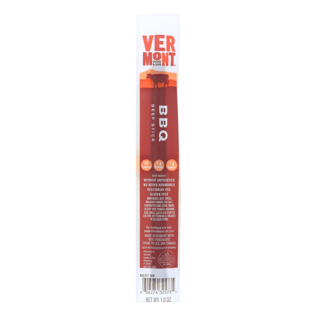 Vermont Smoke And Cure Realsticks - Bbq - 1 Oz - Case Of 24