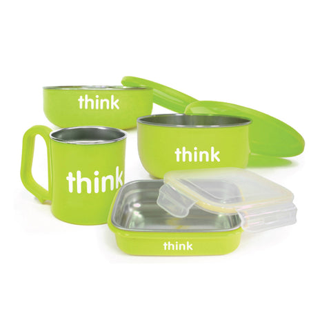 Thinkbaby  The Complete Bpa Free Feeding Set - Lt Green