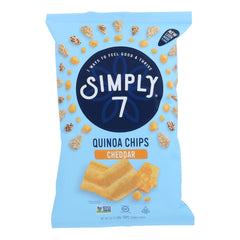Simply 7 Quinoa Chips - Cheddar - Case Of 12 - 3.5 Oz.