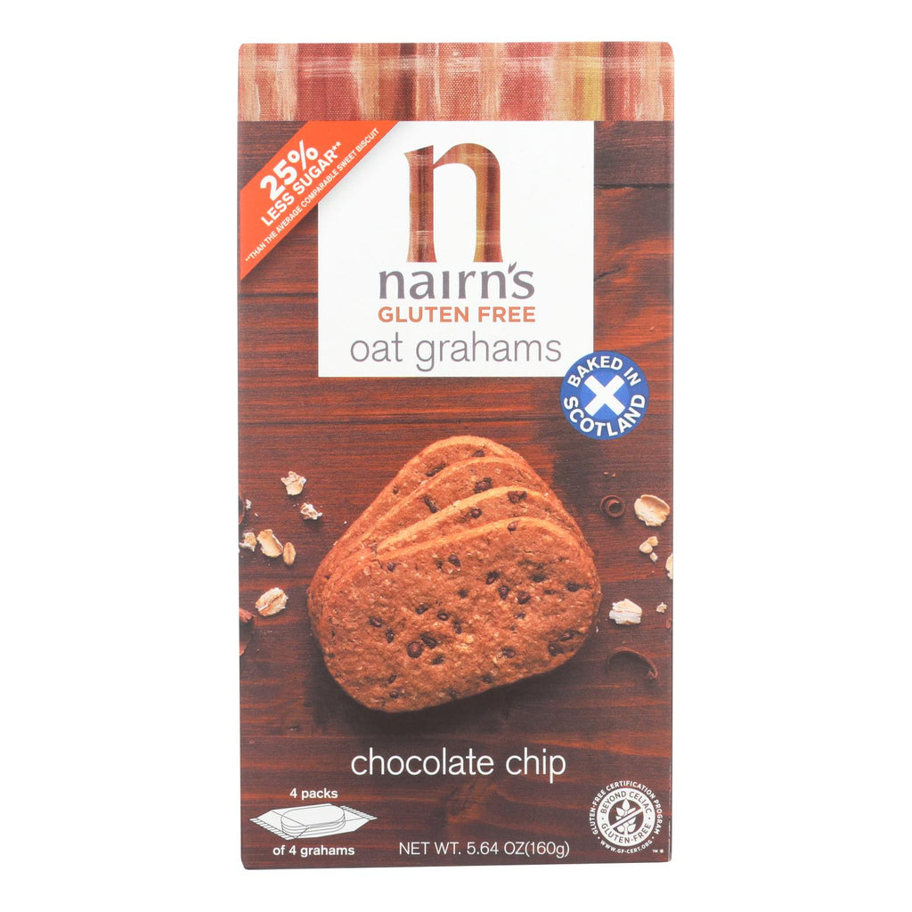 Nairn's Oatmeal And Chocolate Chip - Chocolate - Case Of 12 - 5.64 Oz.