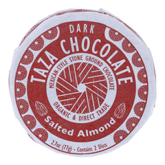 Taza Chocolate Organic Chocolate Mexicano Discs - 40 Percent Dark Chocolate - Salted Almond - 2.7 Oz - Case Of 12