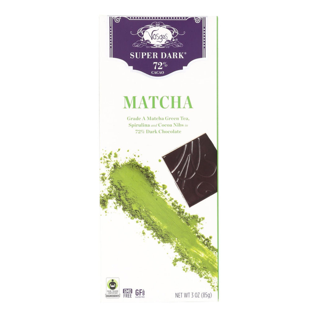 Vosges Haut-chocolat Dark Chocolate Bar - With Spirulina And Matcha Green Tea - Case Of 12 - 3 Oz