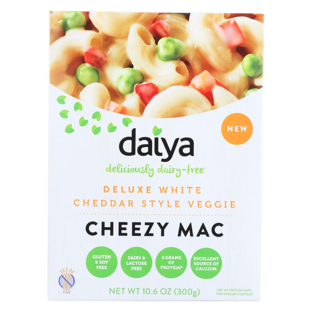 Daiya Foods Inc Cheezy Mac - Deluxe - White Cheddar Style Veggie - Dairy Free - 10.6 Oz - Case Of 8