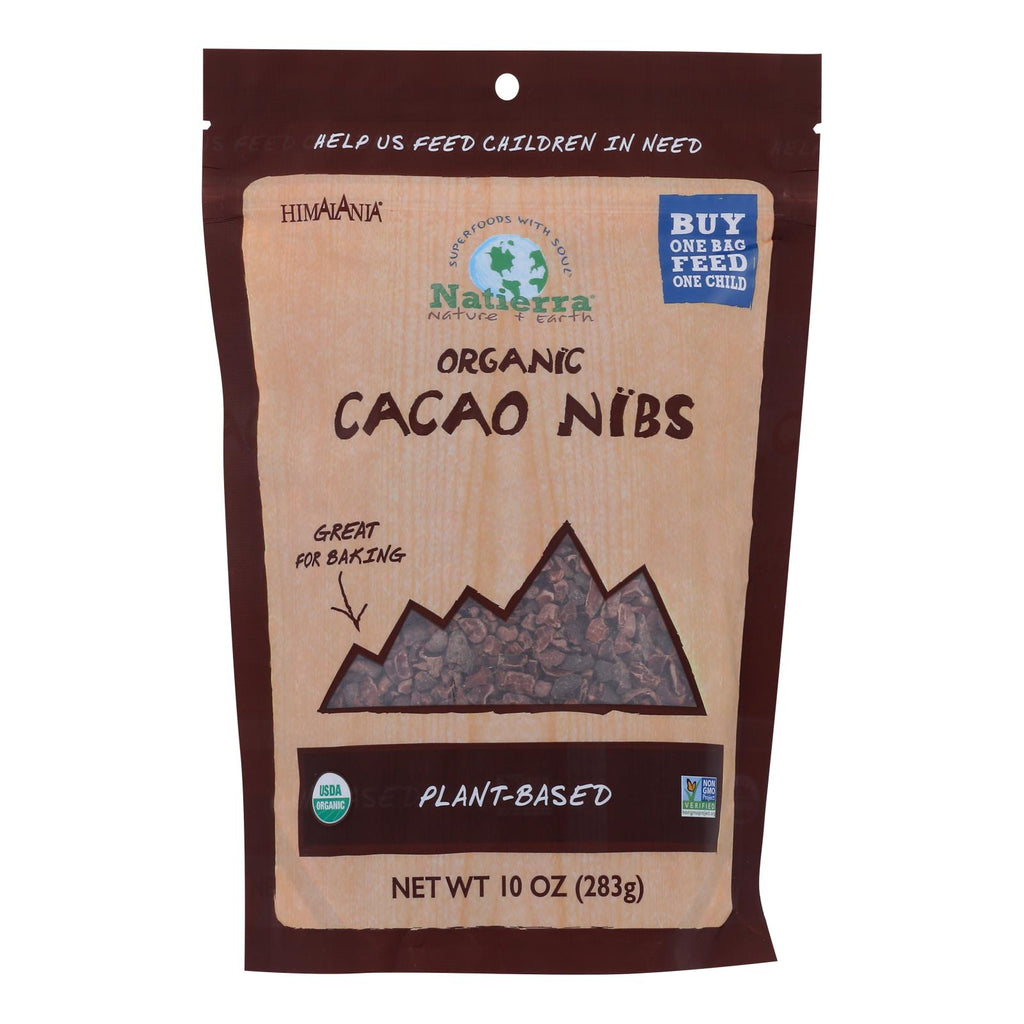 Natierra Organic Cacao Nibs - Chocolate - Case Of 6 - 10 Oz.