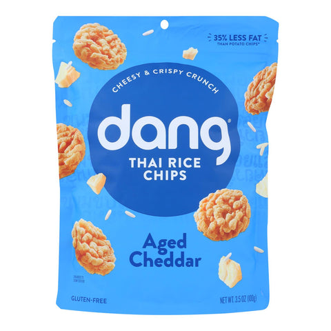 Dang - Sticky Rice Chips - Aged Cheddar - Case Of 12 - 3.5 Oz.