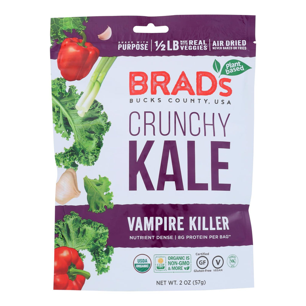 Brad's Plant Based Raw Crunch - Vampire Killer - Case Of 12 - 2 Oz.