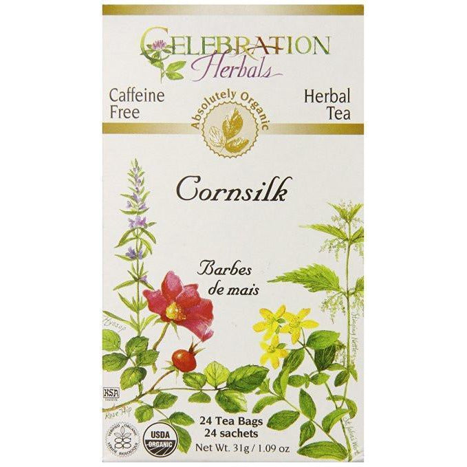 Celebration Herbals Organic Cornsilk Tea - 24 Tea Bags - 1.09 oz