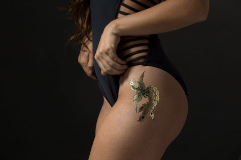 Rising Phoenix temporary gold foil tattoo - Stay Gold Tattoos - 1