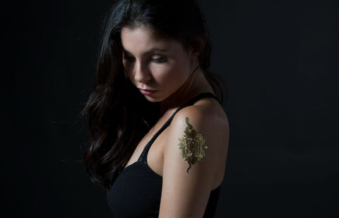 Venomous Beauty temporary gold foil tattoo - Stay Gold Tattoos - 1