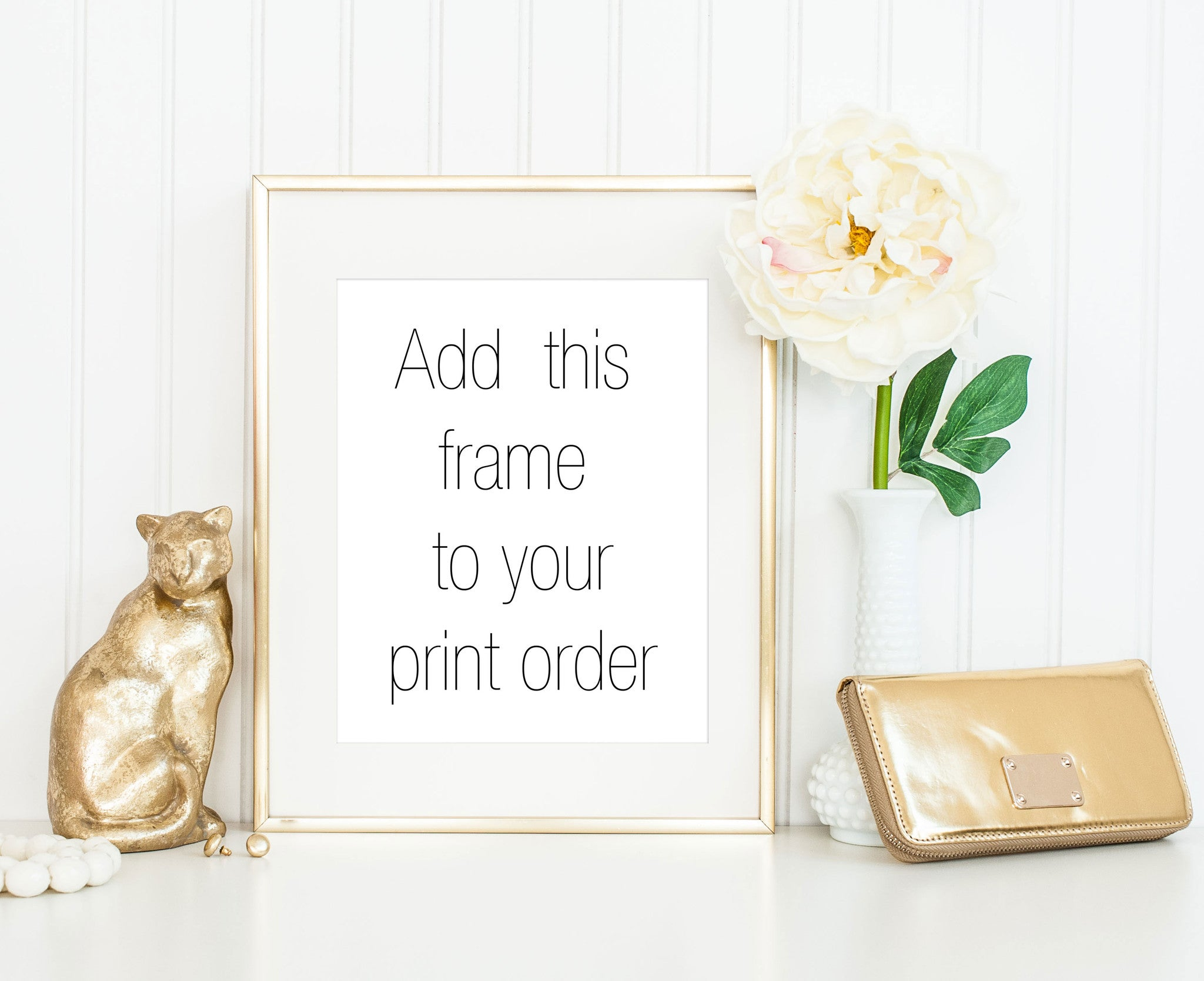 8x10 Thin Gold Frame