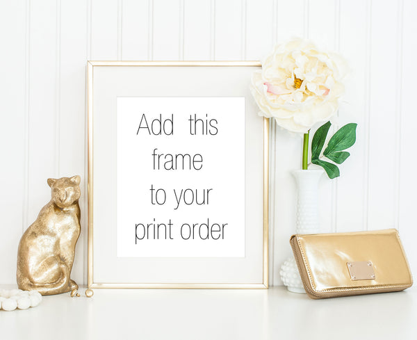11x14 Thin Gold Frame