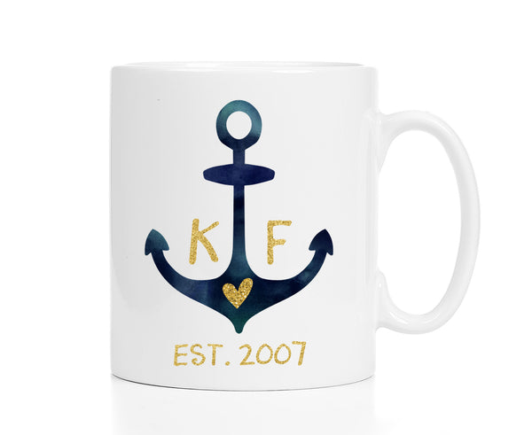 Personalized Anchor Mug