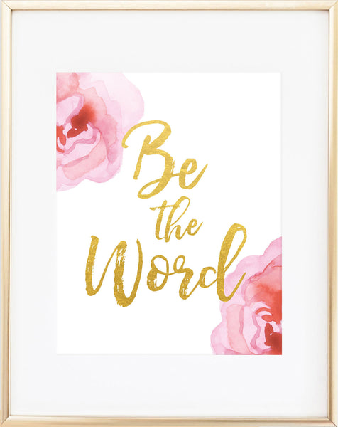 Free Printable: Be the Word