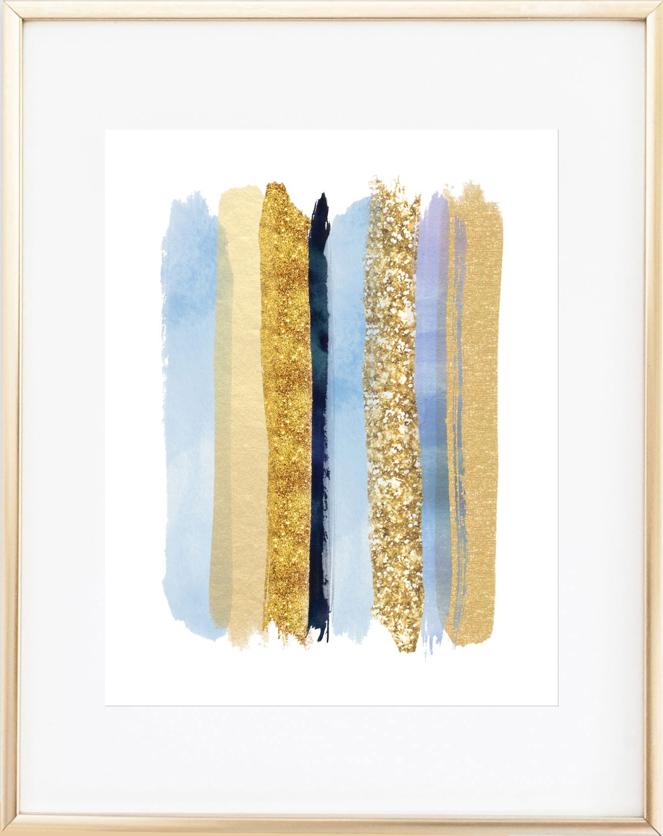 Glamorous Blue and Gold Wall Art | Mad Kitty Media