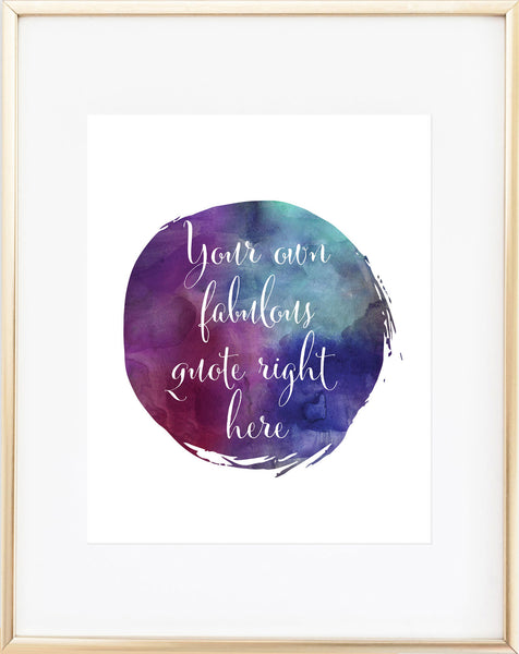 Watercolor Circle Custom Print