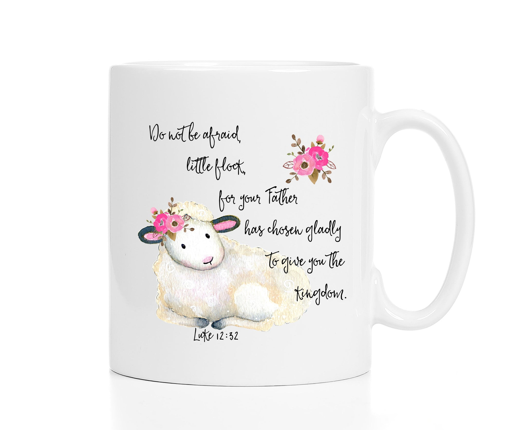 Christian Gift  - Do Not Be Afraid - Lamb Mug