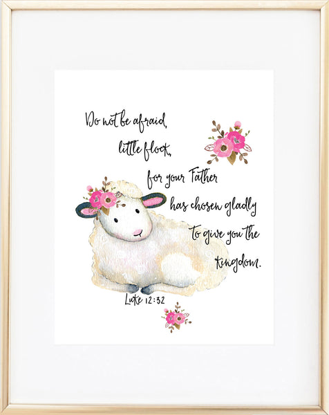 Christian Nursery Print - Do Not Be Afraid - Lamb Print