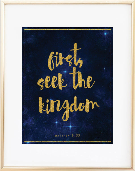 First, Seek the Kingdom Print