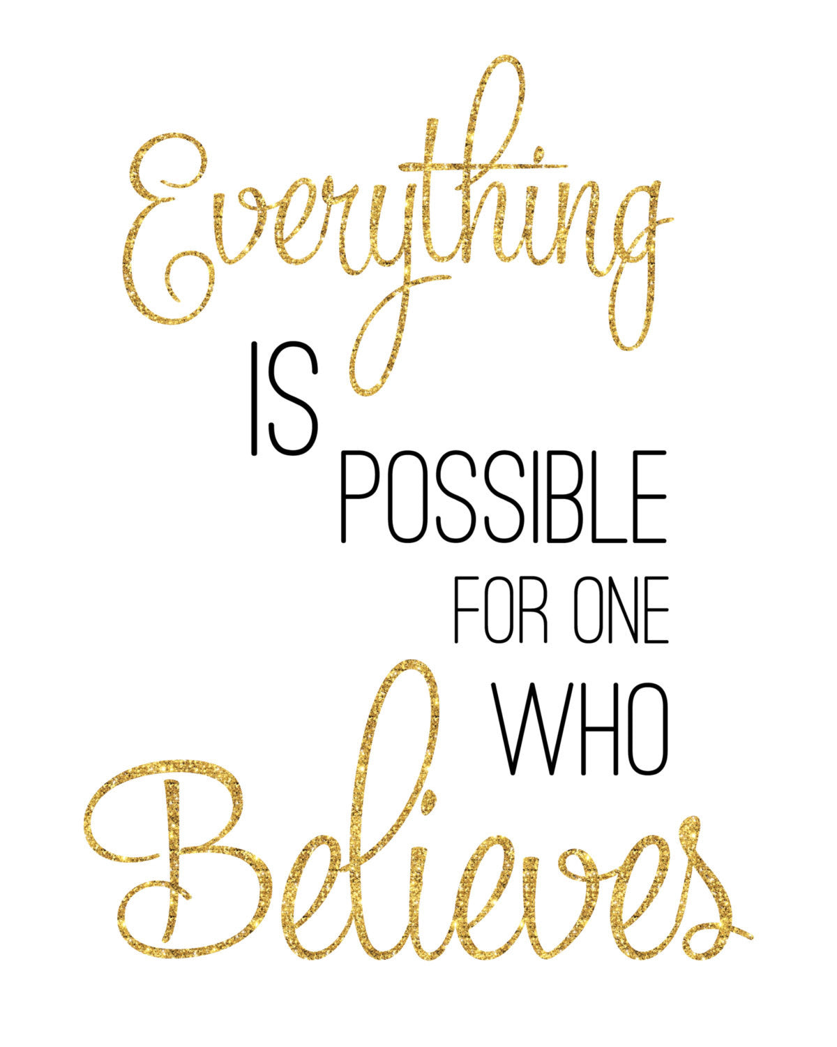 Everything Is Possible Mark 9:23 /  Digital Download Print